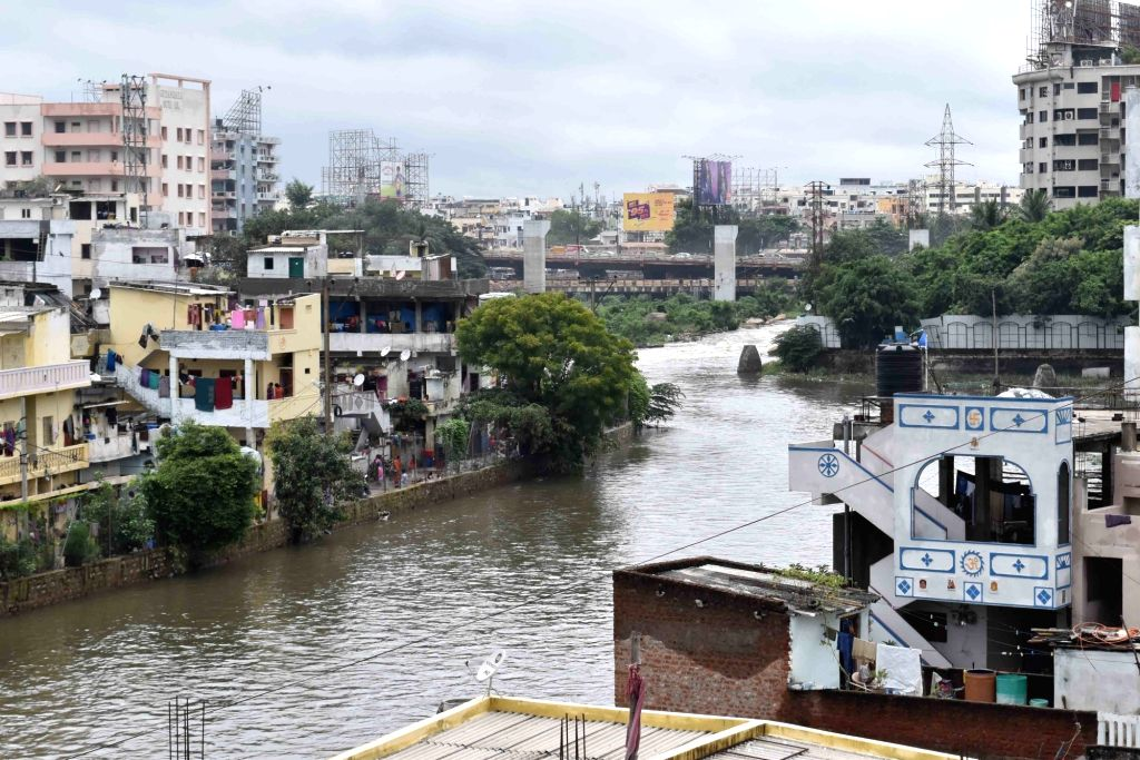 A view of flooded streets of Hyderabad on Sept 23, 2016.