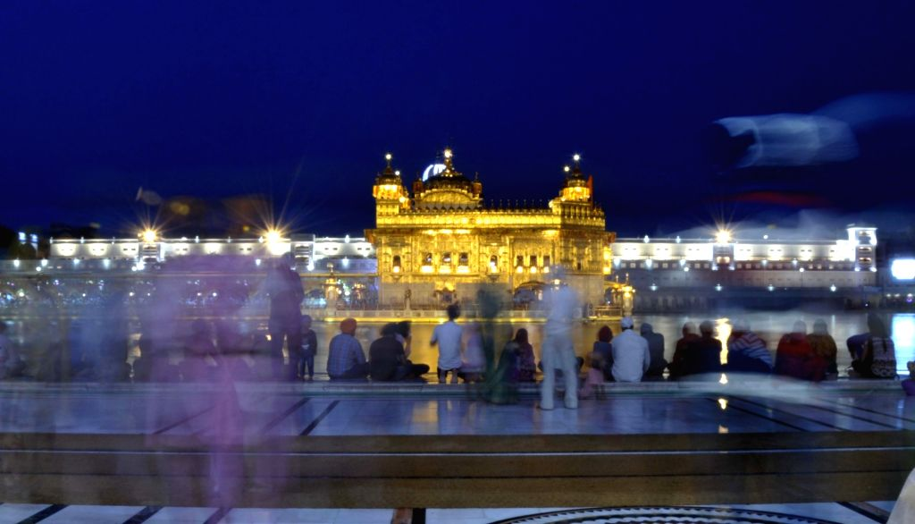 A view of Golden temple on the eve of 413th Parkash Purab of Sri Guru Granth Sahib Ji in Amritsar on Aug 21, 2017.
