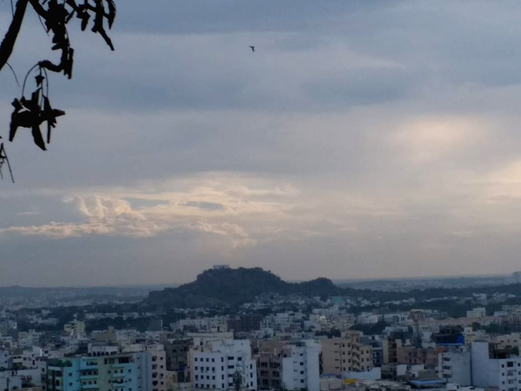 A view of Hyderabad's skyline on Nov 2, 2018.