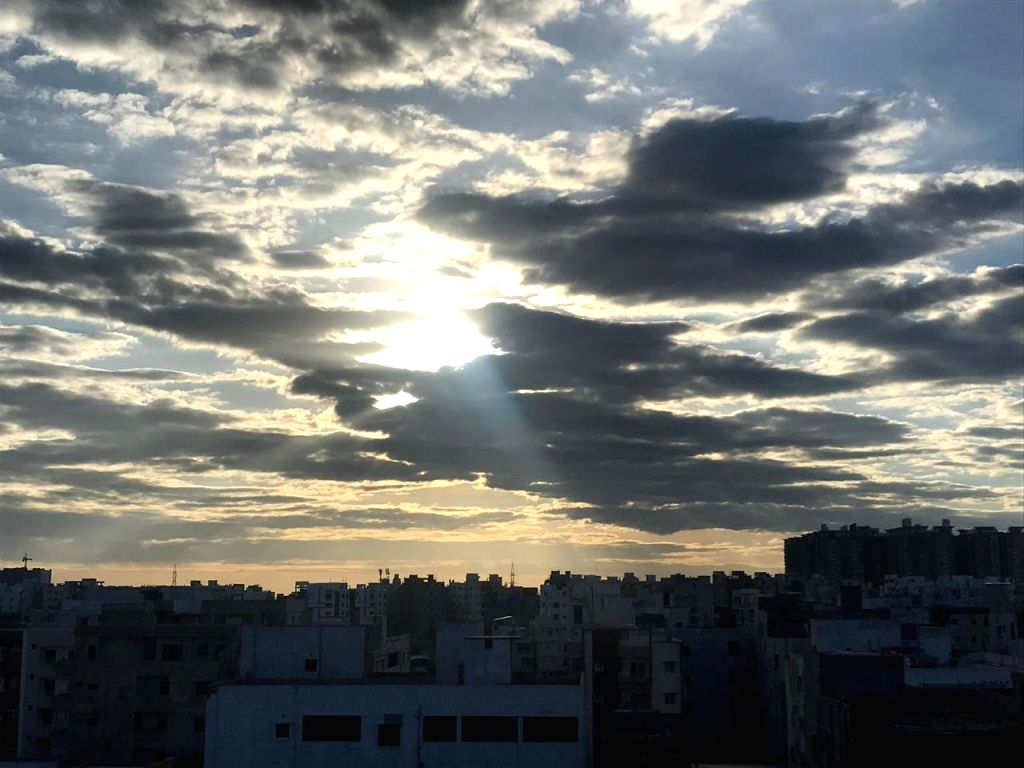 A view of Hyderabad skies on June 12, 2019.