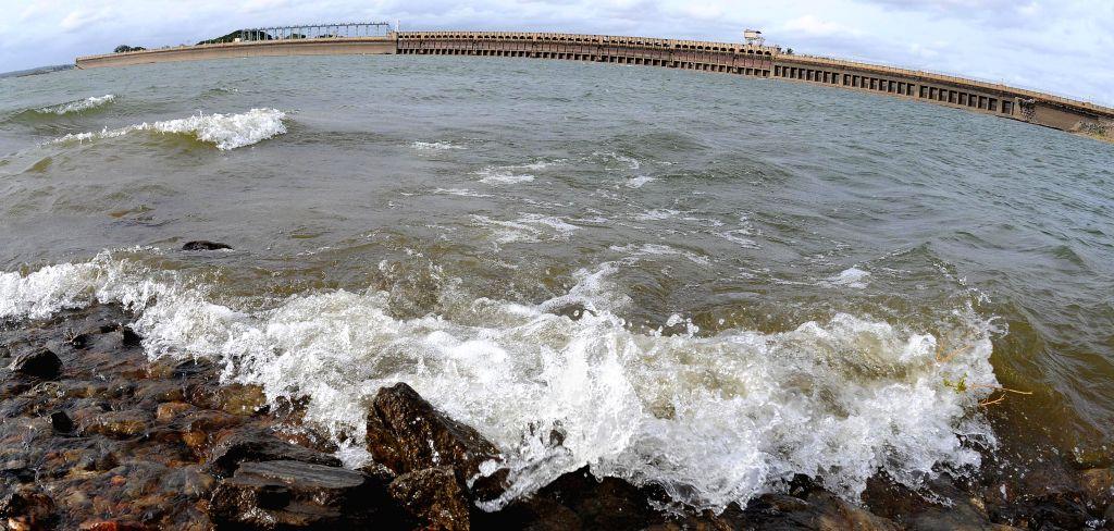 A view of Krishnaraja Sagar (KRS) Dam in Mysore on July 23, 2014.