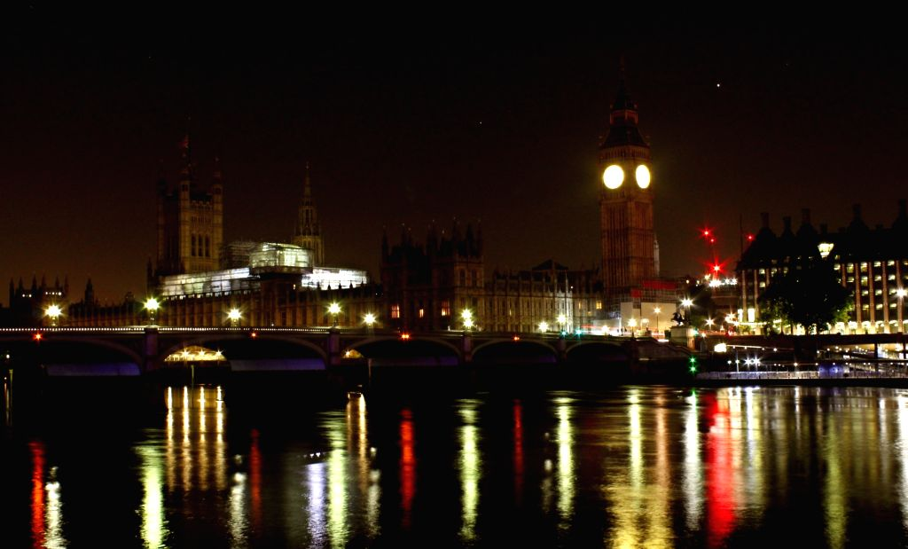 A view of London's West Minister Bridge at night. (File Photo: Surjeet Yadav/IANS) - Bridge and Surjeet Yadav