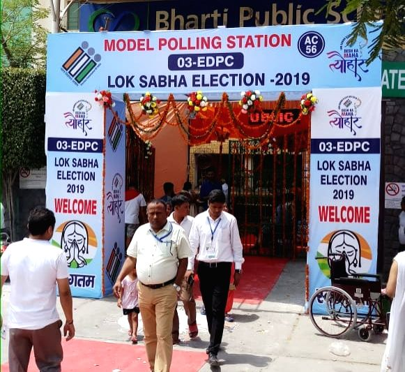 A view of Model polling boothan initiative of the Election Commissionwere the centre of attraction for the electorate across Delhi who turned up at these booths to exercise their ...