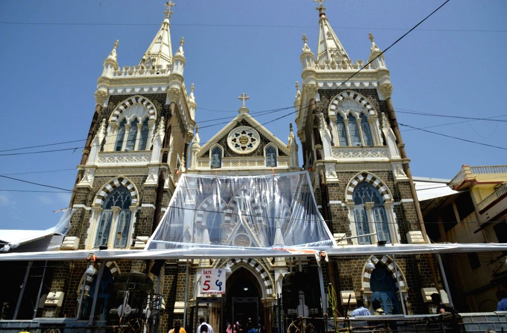A view of Mount Mary Church in Mumbai's Bandra during the week-long Bandra Fair, also known as Mount Mary Fair on Sept 9, 2018.