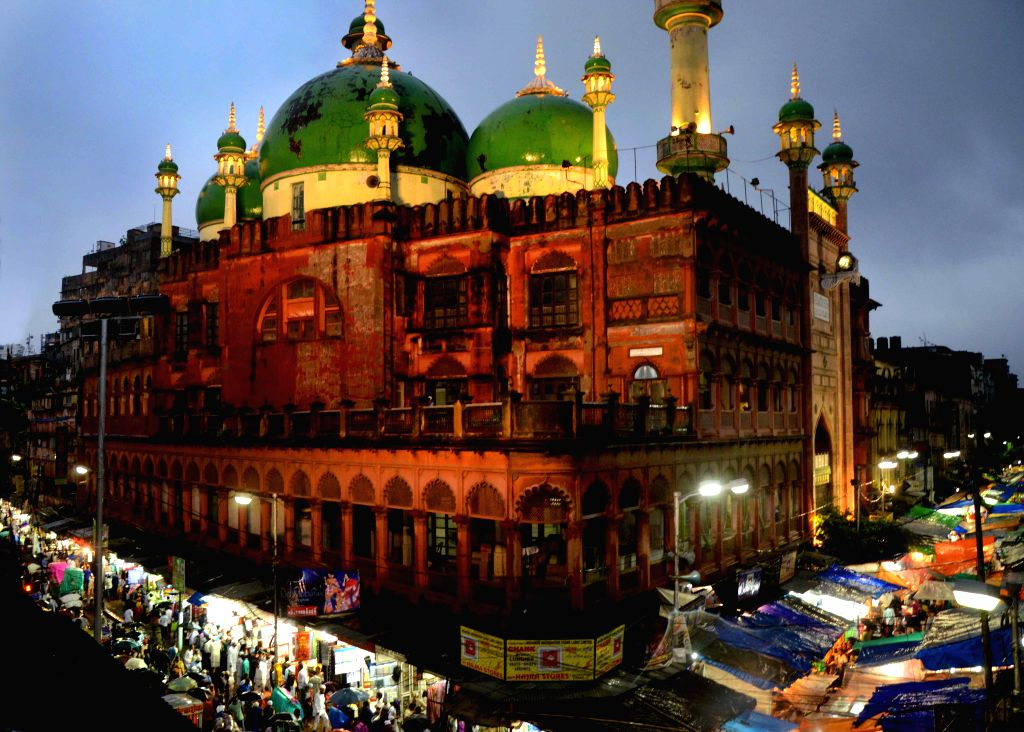 A view of Nakhoda Masjid on the eve of Eid-ul-Fitr in Kolkata, on July 17, 2015.