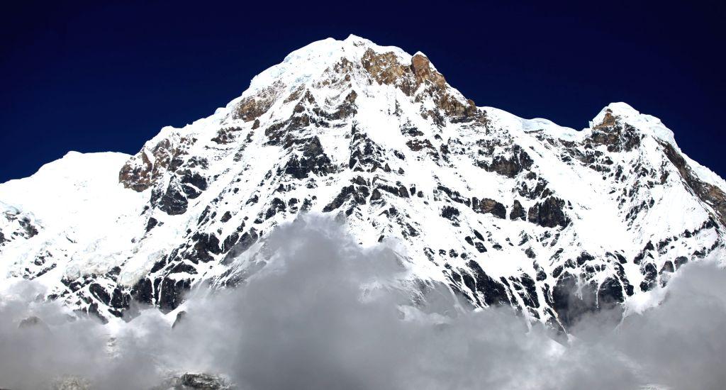 A view of Nepal's Mt Annapurna. (Xinhua/Sunil Sharma/IANS) - Sunil Sharma