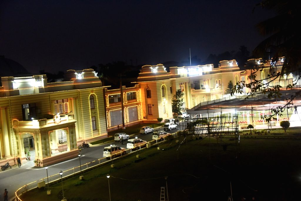 A view of newly constructed central hall of Bihar Legislative Assembly in Patna on Feb 5, 2019.