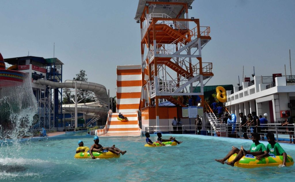 A view of newly launched slide at Nicco's Water Park in Kolkata, on March 9, 2019.