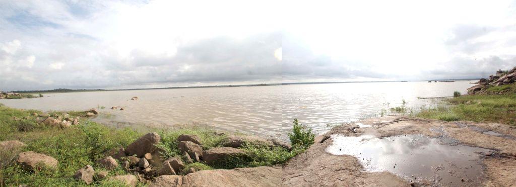 A view of  Osman Sagar - a reservoir in Hyderabad on Sept 15, 2016.