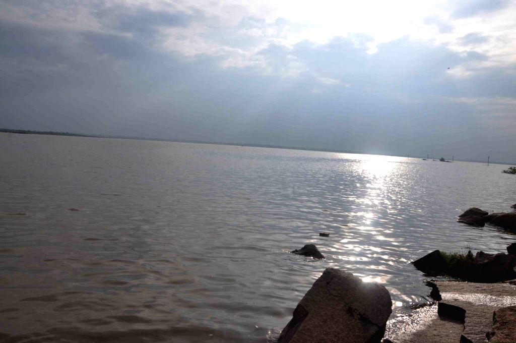 A view of Osman Sagar reservoir in Hyderabad on Sept 26, 2016.
