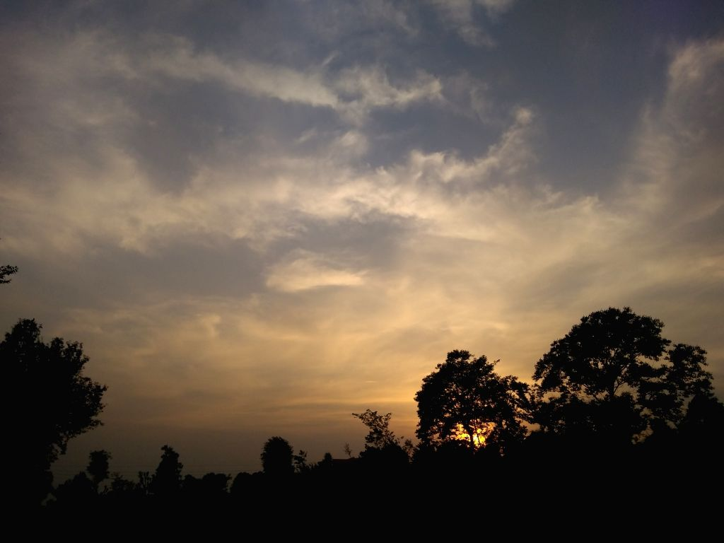 A view of Palampur skies during sunset on May 21, 2018.