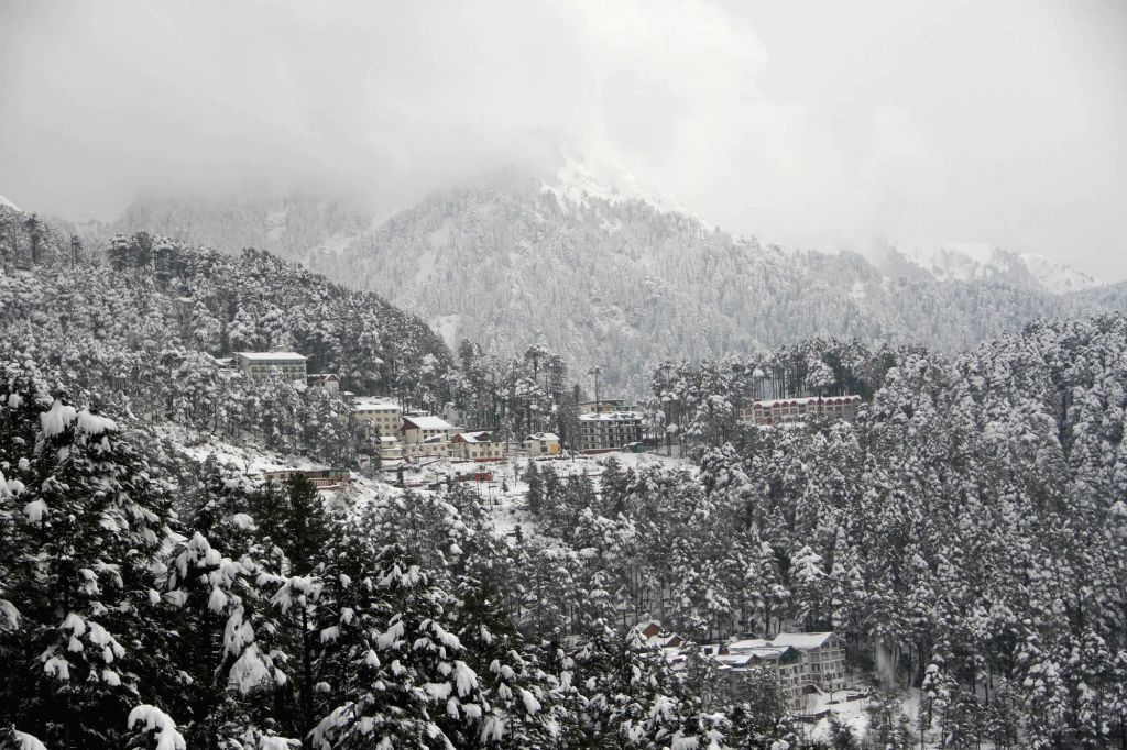 A view of Patni Top in Udhampure district of Jammu and Kashmir on Jan 13, 2017.