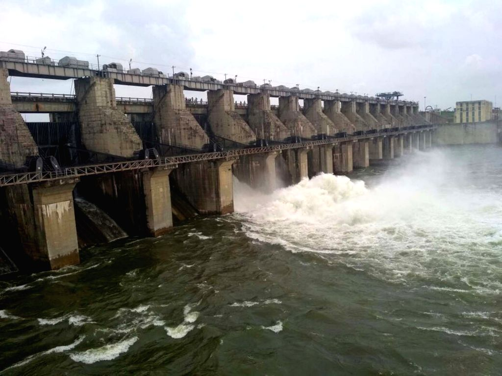 A view of Singur Dam in Telangana's Medak district after heavy rains on Oct 3, 2017.