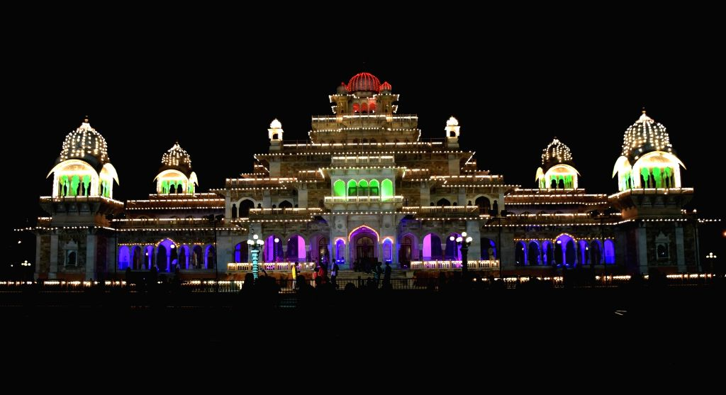 A view of spectacularly illuminated Albert Hall Museum on the eve of Independence Day in Jaipur, on Aug 14, 2016.