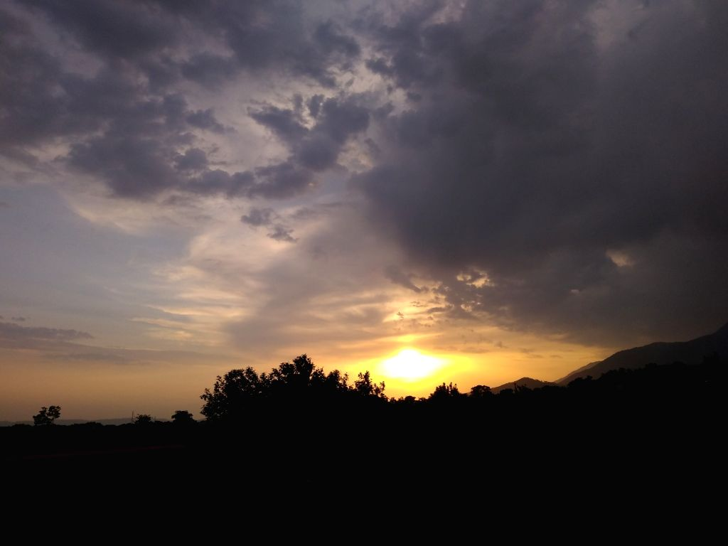 A view of sunset as seen from Palampur, Himachal Pradesh on May 11, 2019.