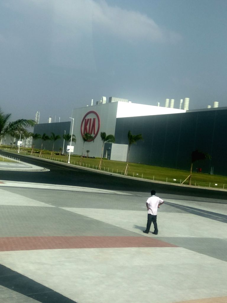 A view of the Anantapur plant of Kia Motors in Andhra Pradesh where it has commenced trial production, on Jan 29, 2019.