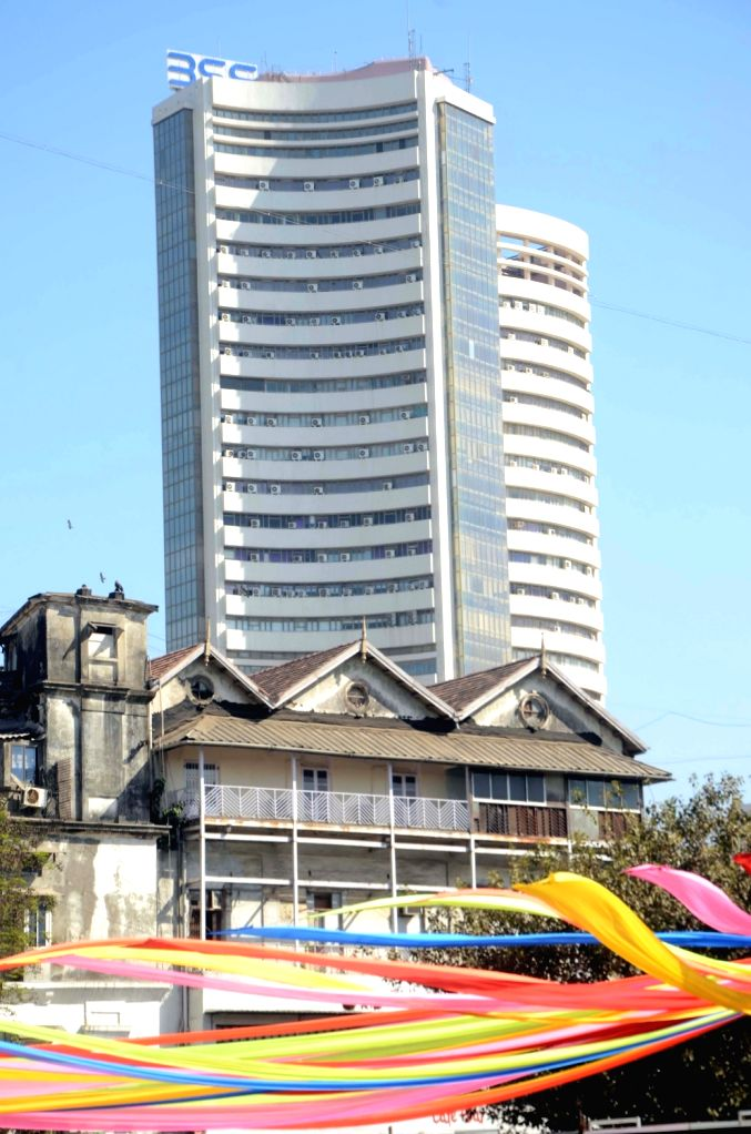 A view of the Bombay Stock Exchange (BSE) in Mumbai. (File photo: IANS)
