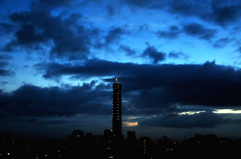 A view of the cloudy skyline during sun set in Kolkata on Aug 19, 2017.