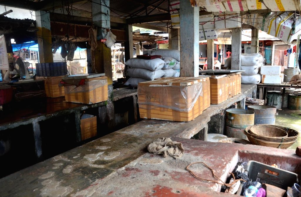 A view of the deserted Ganeshguri fish market after the Assam Government banned the import of fish for 10 days following the detection of  formalin or formaldehyde - a powerful carcinogenic ...