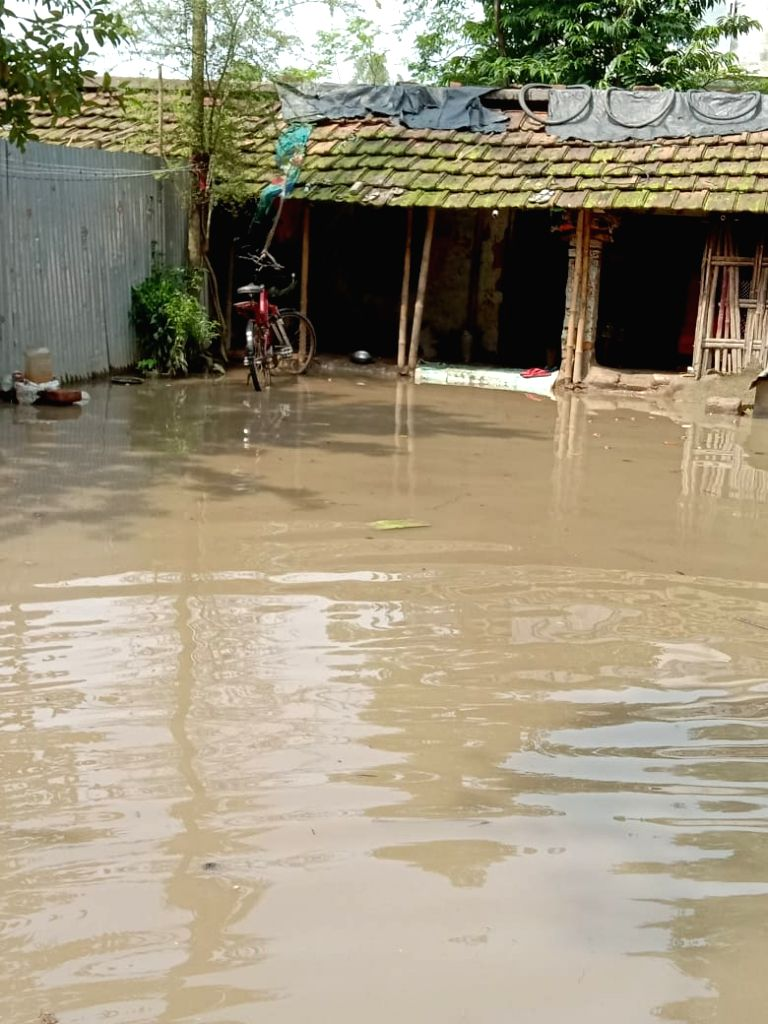 A view of the flood affected Katihar in Bihar, on July 16, 2019.