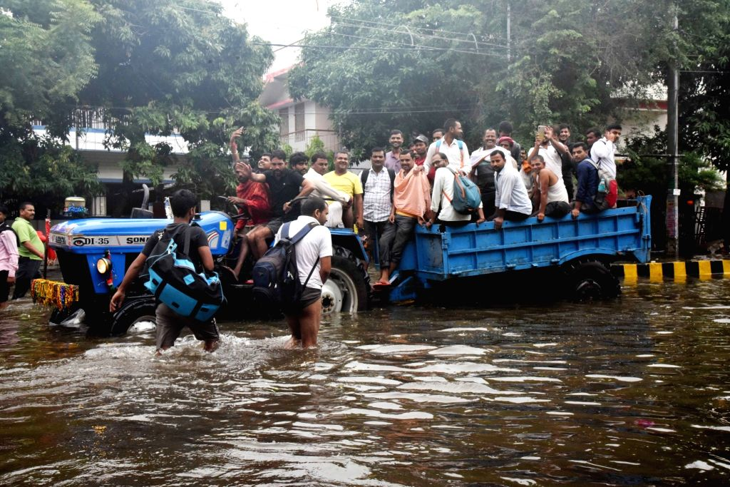 A view of the flood affected Patna on Sep 30, 2019.