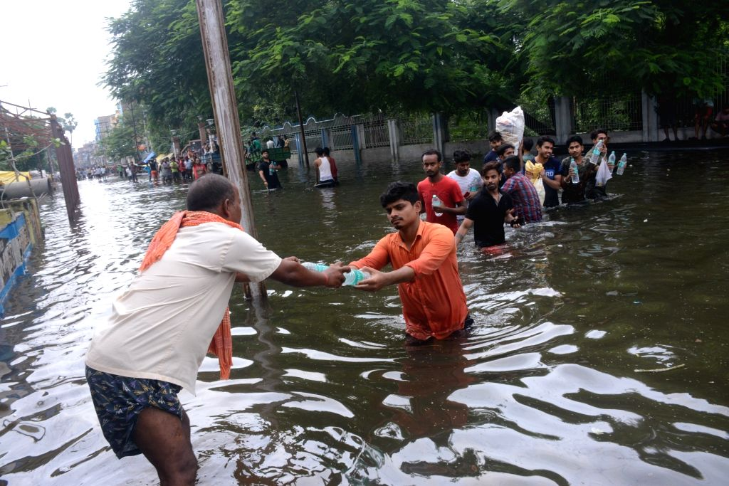 A view of the flood-affected Patna, on Sep 30, 2019.