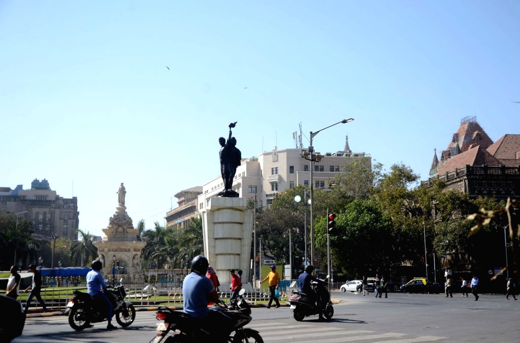 A view of the Flora Fountain and Hutatma Chowk in Mumbai. (File Photo: IANS)
