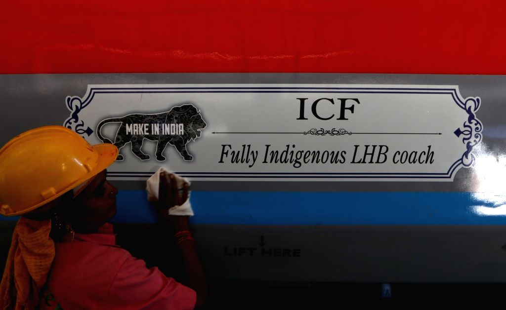 A view of the fully indigenous LHB (Linke Hofmann Busch) coach at Integral Coach Factory (ICF) in Chennai on Oct 4, 2017.
