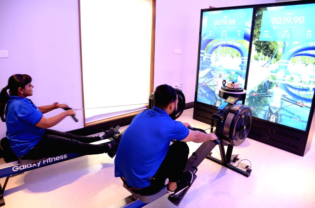 A view of the gaming zone at Samsung's newly inaugurated largest mobile experience centre, in Bengaluru on Sept 11, 2018.