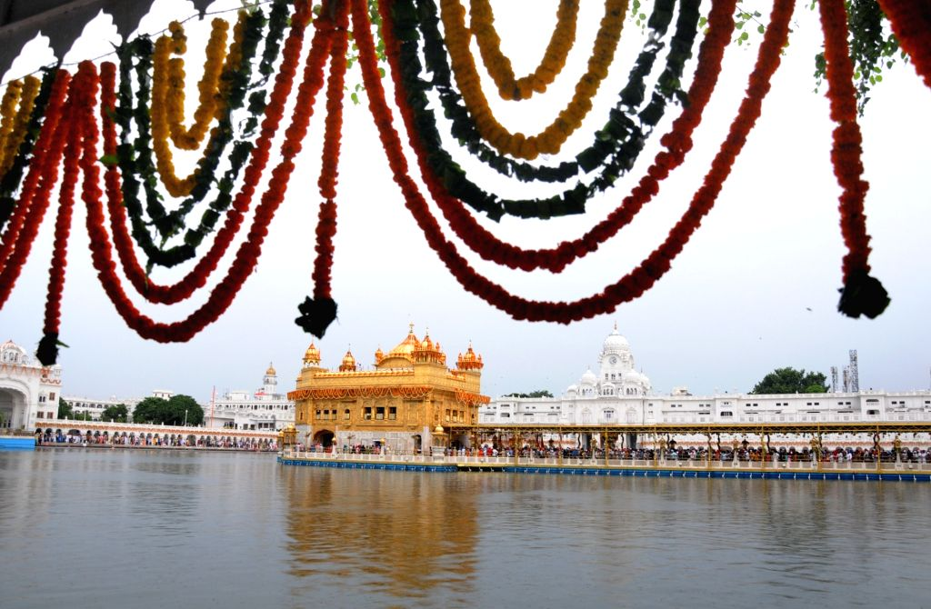 A view of the Golden Temple decorated on the eve of Parkash Purab of Sri Guru Granth Sahib in Amritsar on Sept 9, 2018.