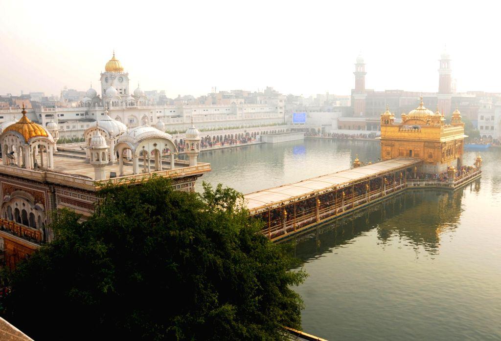 A view of the Golden Temple during the 550th birth anniversary celebrations of Guru Nanak Dev in Amritsar on Nov 12, 2019. - Nanak Dev