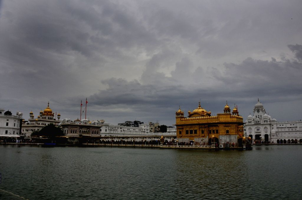 A view of the Golden Temple on an overcast day in Amritsar on July 6, 2017.