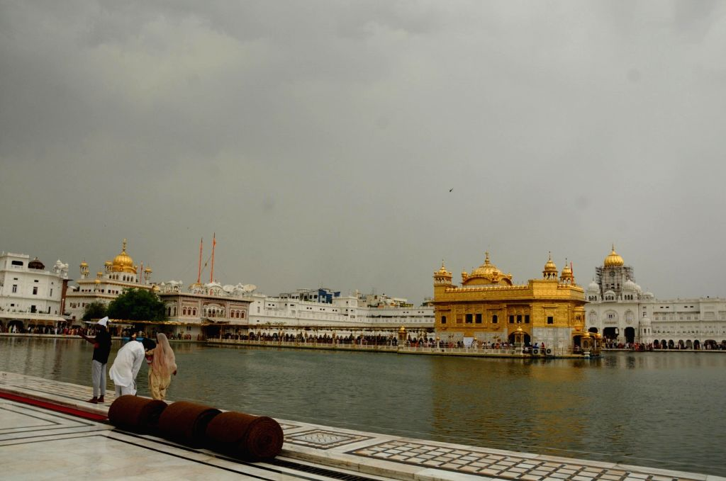 A view of the Golden Temple on an overcast day, in Amritsar on June 15, 2019.