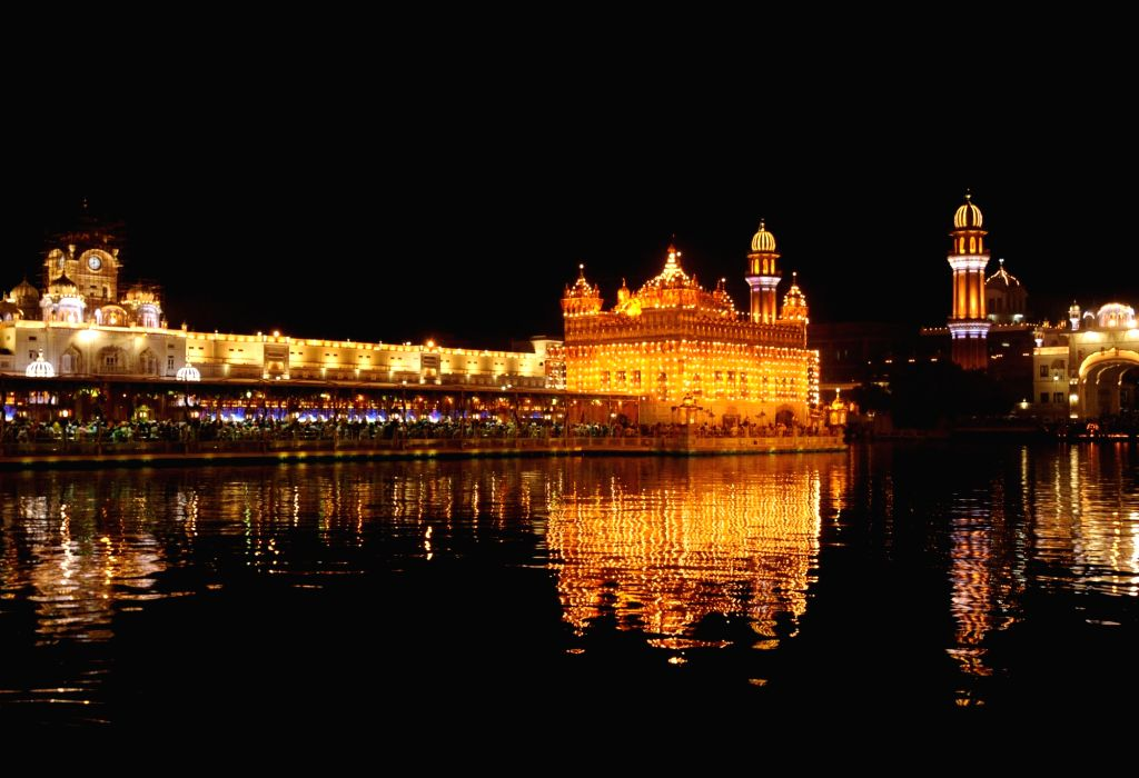 A view of the Golden Temple on 'Parkash Purab of Sri Guru Granth Sahib' in Amritsar on Sept 10, 2018.