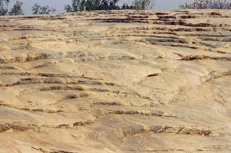 A View of the impressive and massive exposure of Peninsular Gneiss at Lalbagh in Bangalore. (Photo Courtesy: Wikipedia)