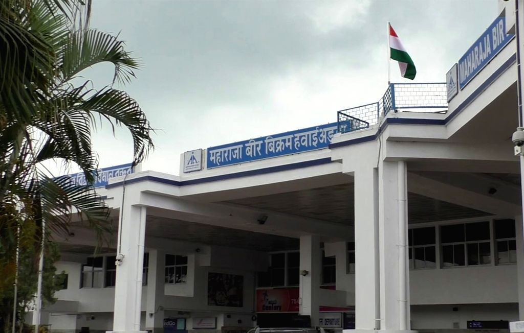 A view of the Maharaja Bir Bikram Airport in Agartala, Tripura on June 14, 2019.