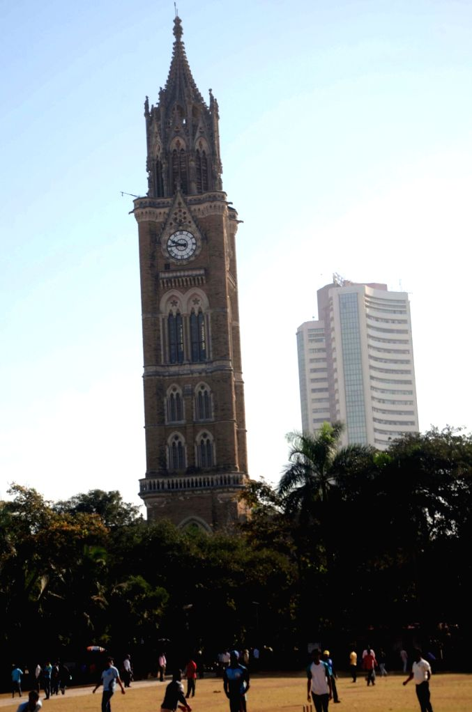 A view of the Mumbai University and Bombay Stock Exchange (BSE) in Mumbai. (File photo: IANS)
