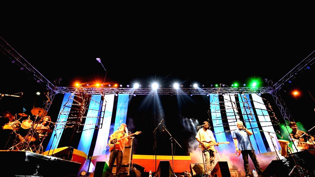 A view of the music performance in the evening at Vizag port