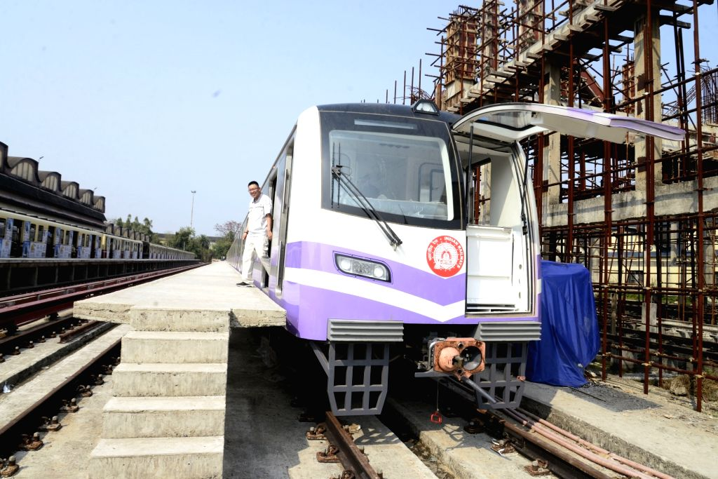 A view of the new rakes that will ply on Kolkata Metro, on March 7, 2019.