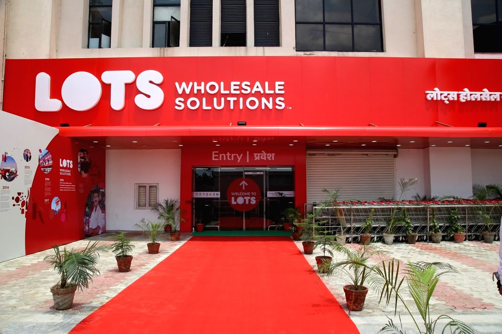 A view of the newly launched first LOTS wholesale store in India, in New Delhi on July 18, 2018.