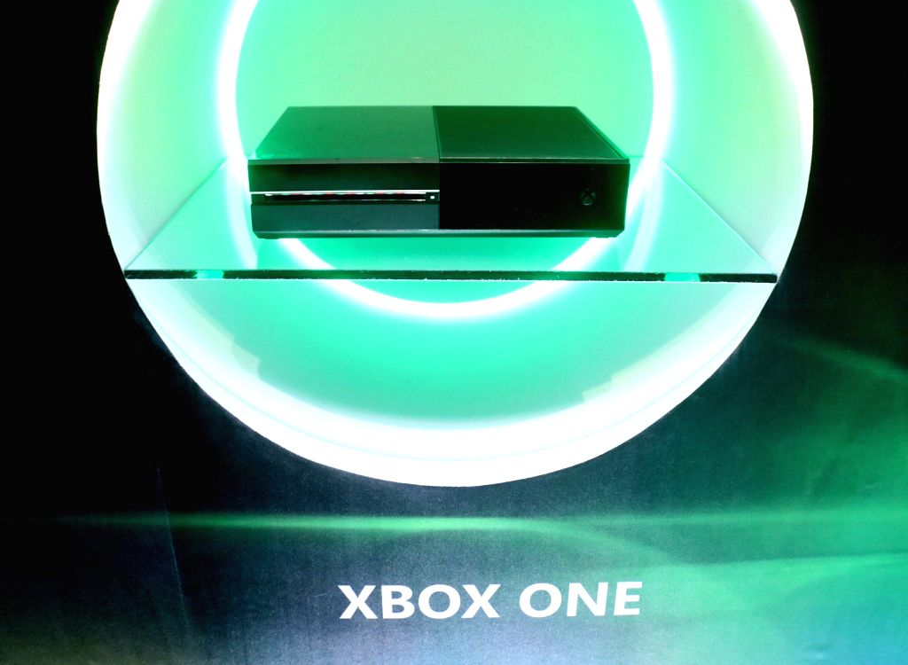 """A view of the newly launched Microsoft """"Xbox One X""""the world's most powerful console that brings immersive 4K gaming and 4K entertainment to gamers; in New Delhi on Jan 23, ..."""