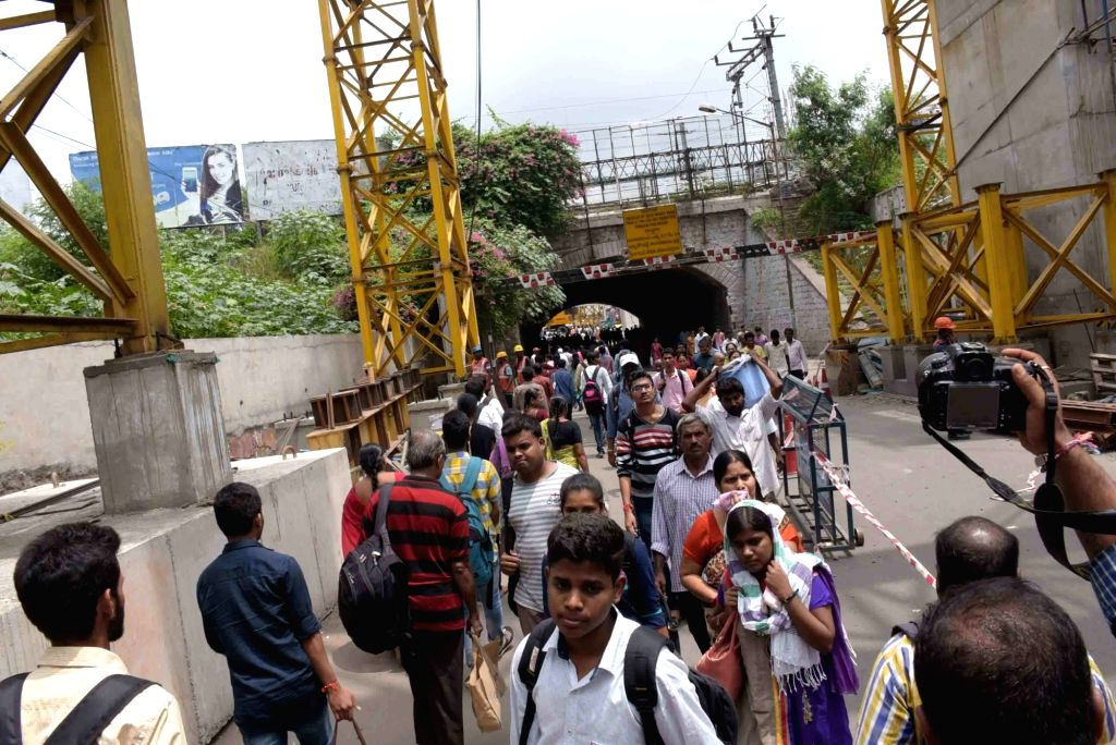 A view of the Oliphant railway bridge at Secunderabad Railway Station which has been closed due to the ongoing Hyderabad Metro Rail Limited works in the area on Aug 8, 2017.