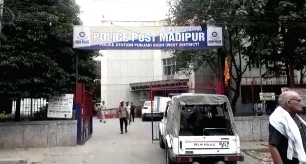 A view of the Punjabi Bagh police station of West Delhi where whree unknown bike-borne assailants tried to snatch a bag from a woman at around 4.30 am on Sep 27, 2019. The men dragged the ...