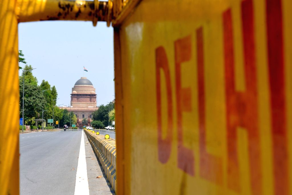 A view of the Rashtrapti Bhavan in New Delhi during the extended nationwide lockdown imposed to mitigate the spread of coronavirus; on Apr 21, 2020.