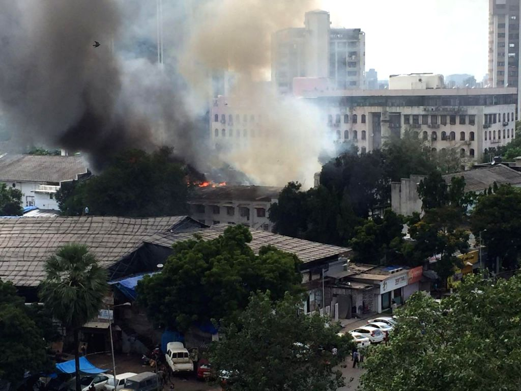 A view of the RK Studio that caught fire in Chembur, Mumbai on Sept 16, 2017.