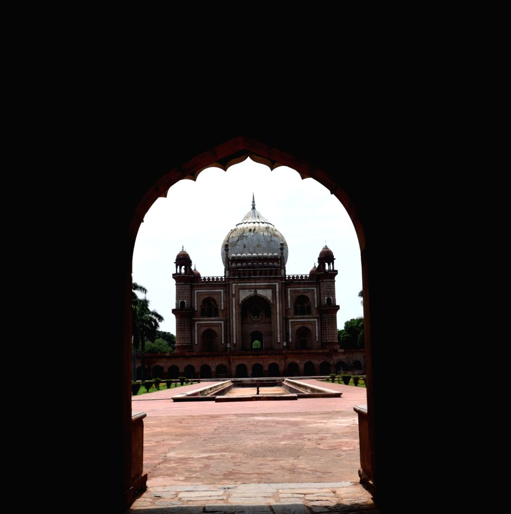 A view of the Safdarjung Tomb in New Delhi on July 5, 2020. The Central government on Thursday issued a slew of directions for reopening of monuments and museums, protected by the ...
