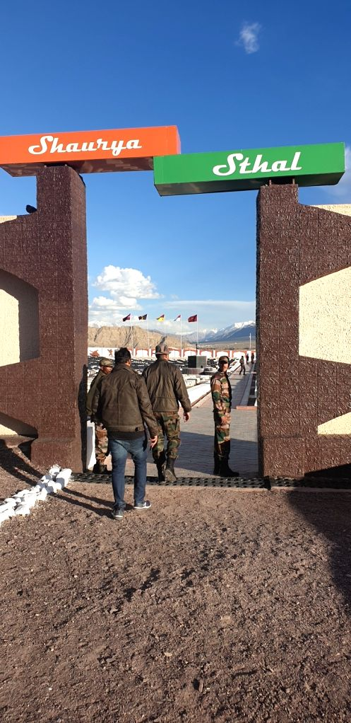 A view of the Shaurya Sthal near the Hall of Fame in Leh, Jammu and Kashmir.