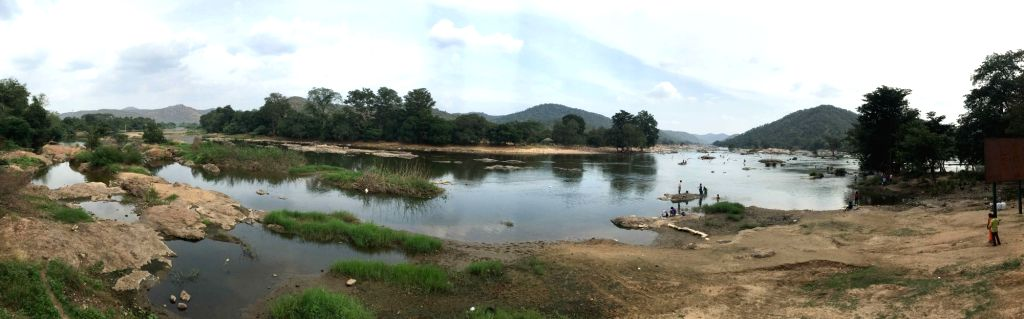 A view of the site where the proposed Mekedatu dam would be constructed across Cauvery river, in Mysuru on Dec 7, 2018.