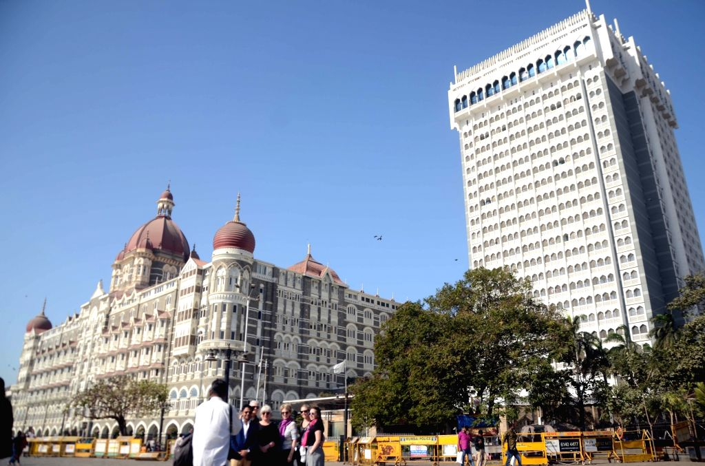 A view of the Taj Mahal Palace Hotel in Mumbai. (File Photo: IANS)