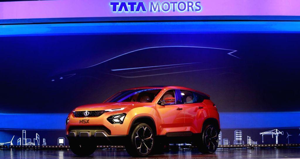 A view of the Tata H5X at the Auto Expo 2018 in New Delhi on Feb 7, 2018.